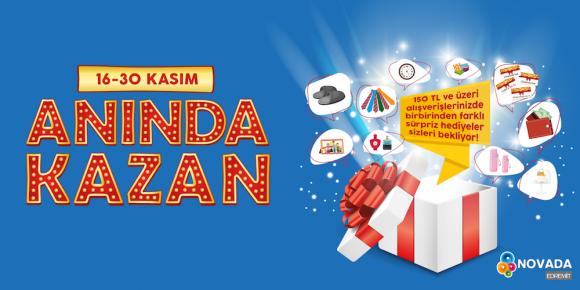 NOVADA EDREMİT 150 TL ALIŞVERİŞE ANINDA KAZANDIRIYOR!
