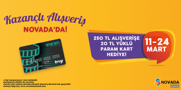 KAZANÇLI ALIŞVERİŞ NOVADA'DA!