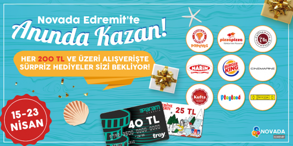 KAZANÇLI ALIŞVERİŞ NOVADA EDREMİT'TE!